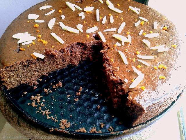 chocolate orange cake whole