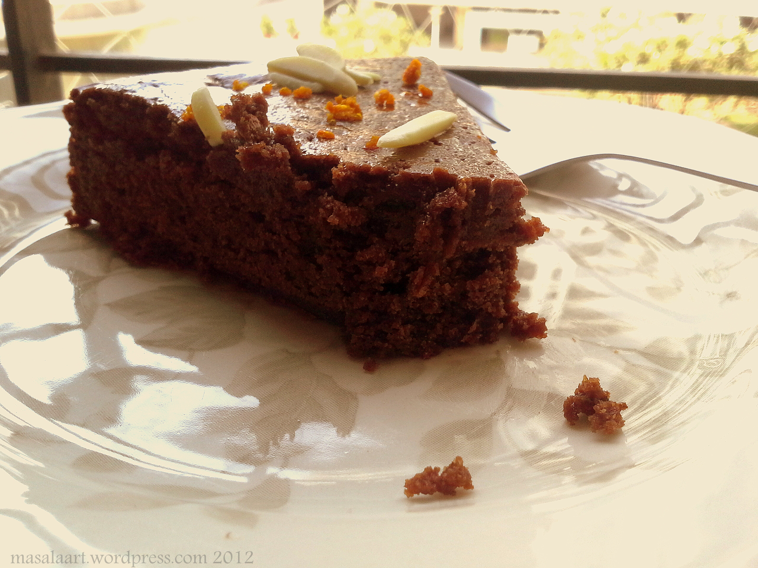 Chocolate Orange Cake Slice Crumbs