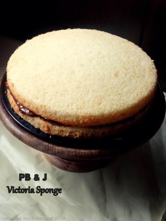peanut butter & jelly victoria sponge cake